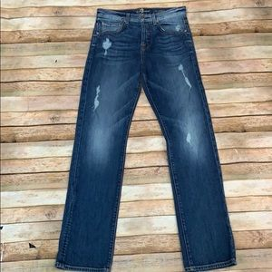 7 For All Mankind 1984 Boyfriend Distressed Jeans